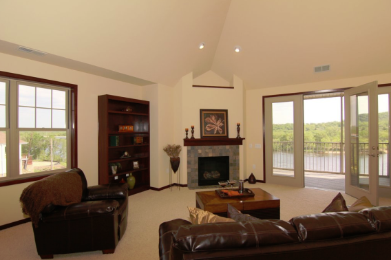 Full View of Living Room - Cathedral Ceiling and Panoramic Views of the Wisconsin River