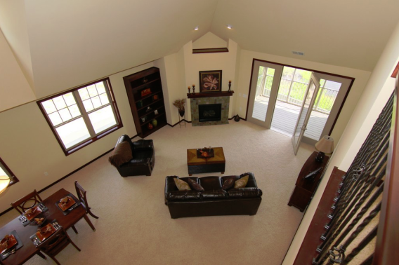 A View from Above - Living Room with Dining Room Combo